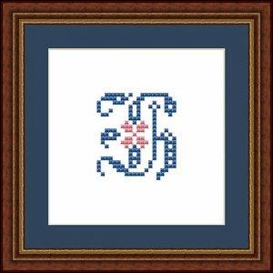 """Letter H """"Fontainebleau"""""""