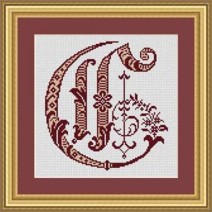 """Letter C """"Bordeaux"""""""