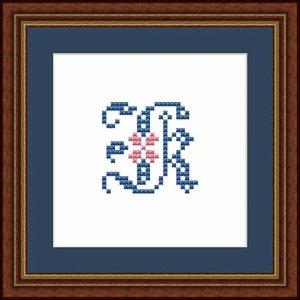 """Letter K """"Fontainebleau"""""""