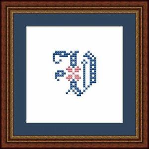 """Letter V """"Fontainebleau"""""""