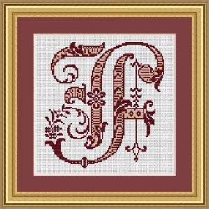 """Letter F """"Bordeaux"""""""