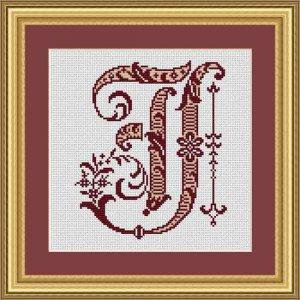 """Letter IJ """"Bordeaux"""""""