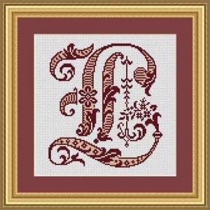 """Letter L """"Bordeaux"""""""