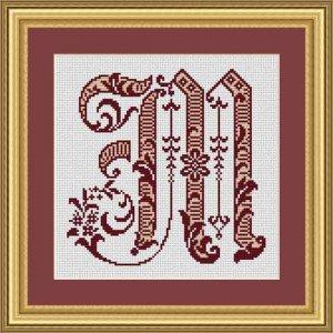 """Letter M """"Bordeaux"""""""