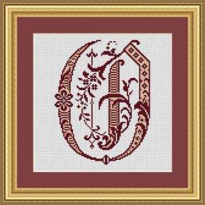"""Letter O """"Bordeaux"""""""