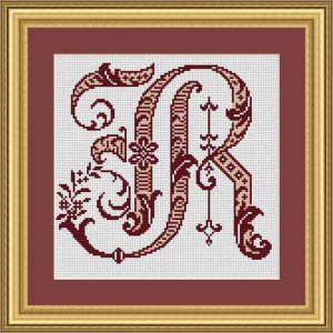 """Letter R """"Bordeaux"""""""