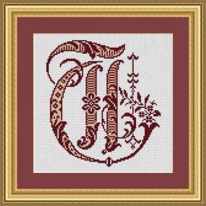 """Letter T """"Bordeaux"""""""
