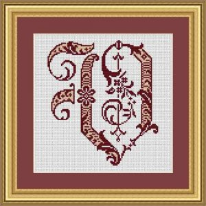 "Letter V ""Bordeaux"""
