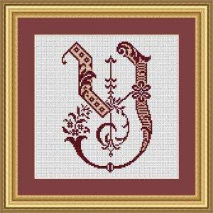 """Letter Y """"Bordeaux"""""""