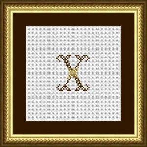 """Letter X """"Limoges"""""""