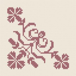 Stilisierte Kornblumen
