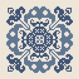 Symmetrisches Florales Motiv