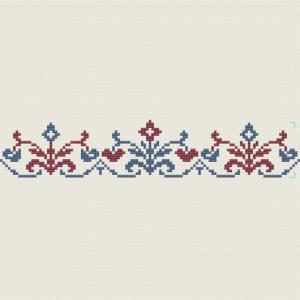 Florale Bordüre