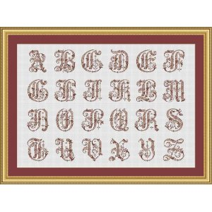 "Set 24 Letters ""Bordeaux"""