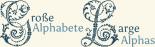 Große und mittlere Alphabete