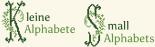 Kleine Alphabete